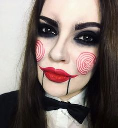 Jigsaw halloween makeup Saw, Billy the puppet #billy #Halloween #Jigsaw #Makeup #puppet