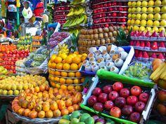Frutas en mercado mexicano
