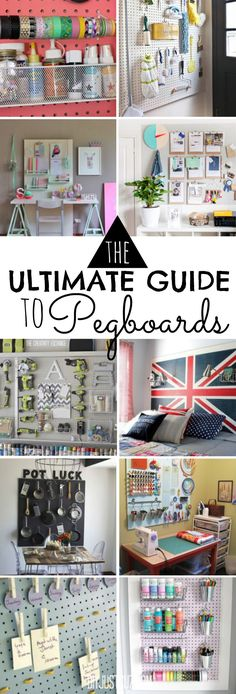 Everyone should have a pegboard! They're not just for your garage...Here's the Ultimate Guide to Pegboards, and why you should get one right this minute! @diyjustcuz