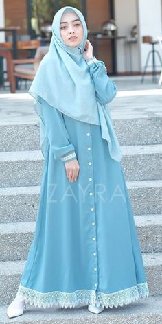 Muslim Women Fashion, Islamic Fashion, Batik Fashion, Abaya Fashion, Stylish Dresses For Girls, Modest Dresses, Long Skirt Looks, Moslem Fashion, Modele Hijab