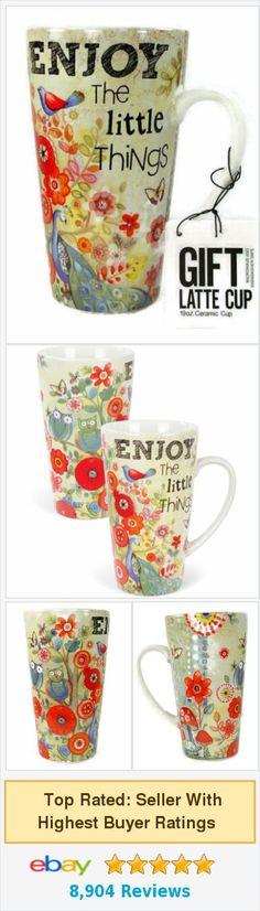 Carson Homes Coffee Mug Cup Latte 19 oz Ceramic Enjoy The Little Things http://www.ebay.com/itm/Carson-Homes-Coffee-Mug-Cup-Latte-19-oz-Ceramic-Enjoy-The-Little-Things-/361083708372