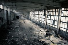 Abandoned spaces. This is an old industrial Interior- if form follows function then should this even exist anymore?