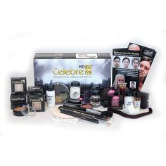 Mehron's Celebre Professional Makeup Kit has everything a makeup artist needs for use on stage or in film, video or photography. Mehron Celebre Cream Makeup is a highly pigmented, silky, matte cream m