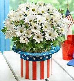 Cool 4th of July Centerpieces