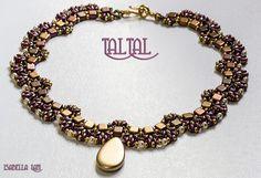 TalTal SuperDuoand Czech Mates Beadwork Necklace Pdf von bead4me, $12.00