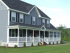 adding on a porch designs | Farmers Porch On Colonial Home 300x225 Colonial Home Exterior Design ...