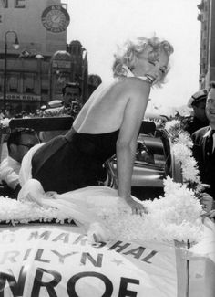 Marilyn Monroe serving as Grand Marshal at the Miss America pageant in Atlantic City, 1952