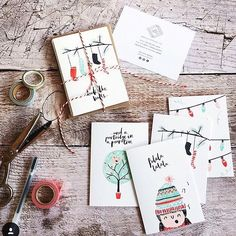 Gorgeous repost from @acollinsdesigns of my 'falalala' Christmas card set for #smallbusinesssaturday Don't forget you can still get 15% off all paper products in my shop until tomorrow evening with code: BLACKFRIDAY16 at checkout #shopthelovelydrawer