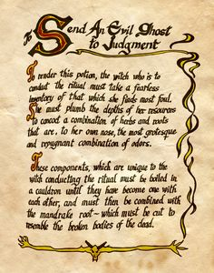 """Send an Evil Ghost to Judgement"" - Charmed - Book of Shadows"