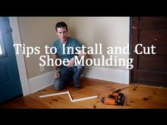 How to Cut Corners for Shoe Molding : Walls & Home Repairs - YouTube