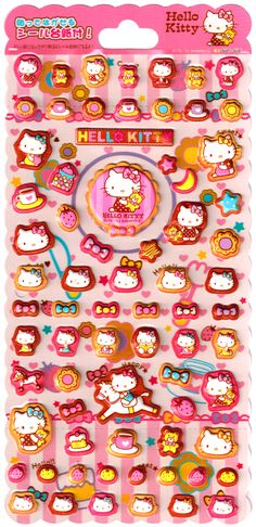 Sanrio Hello Kitty Tea Time Puffy Sticker Sheet