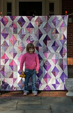 My Fabric Obsession: Purple Diamonds! I think this goes with the purple diamonds tute