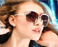 ff975d42aedab US  18.48  FEISHINI White High Quality Fashion Driving Oculos De Sol  Feminino Big Frame Metal Vintage Sunglasses Women Polarized Brand-in  Sunglasses from ...