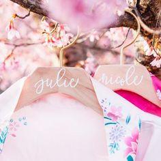 calligraphy bridesmaid hangers