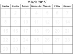 Download March 2015 Calendar Printable. Cute March 2015 Calendar Canada, USA, UK, Australia, Templates, Excel, Word, Pdf, Holiday in March 2015 Calendar.