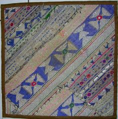 Embroidered Patchwork Pillow...Central Asian Style /// Bazaar Bayar