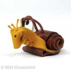 Snail Leather Keychain - LUMACA, Italian leather key chain handmade in Italy