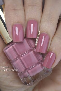 Effect swatch Grape Fizz Nails: L'oreal Paris Color Riche, Rue Cremieux Swatch グレープフィズネイルズ:The Oreal Paris Color Rich、Rue Cremieux Swatch Nail Polish Designs, Nail Polish Colors, Nail Art Designs, Nail Design, Salon Design, Uñas Color Coral, Uñas Fashion, Gel Nails At Home, Nails Only
