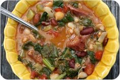15 Bean Soup with Smoked Pork & Greens!