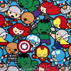Marvel - Kawaii All in the Pack Multi Yardage