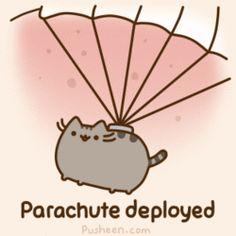 The Mars Curiosity Kitty  Parachute deployed