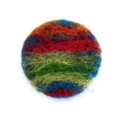 Needle Felted Brooch Button Brooch Abstract by 78HappinessPlace, £5.00