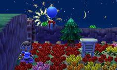 Fireworks & balloon present.
