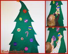 I would like to make a wall felt Christmas tree (with ornaments) someday...