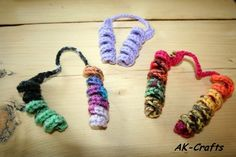 How to crochet a hair spiral or corkscrew ponytail holder – The Art of Craft
