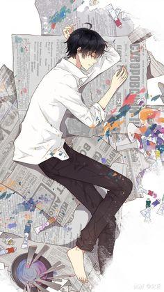 Cartoon Drawing Tips for Kids Cool Anime Guys, Handsome Anime Guys, Hot Anime Boy, Anime Love, M Anime, Kawaii Anime, Anime Art, Chibi, Image Manga
