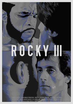 Rocky 3 Artwork by Matt Edwards Rocky Balboa, Rocky Film, Rocky 3, Cinema Tv, Cinema Posters, Stallone Rocky, Warrior Movie, Silvester Stallone, 2011 Movies