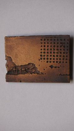Handmade photoetched copper brooch Wall The by TheArtisansForest, £25.00