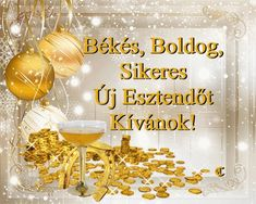 Újévi képeslapok / New Year 61 Képeslapküldő galéria /e-card . New Year Greetings, Happy New Year 2020, New Years Eve, Advent, Holiday, Christmas, Alcoholic Drinks, Happy Birthday, Place Card Holders