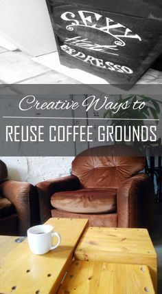 waste not life hacks! How to repurpose used coffee grounds on chelf.net Buy Coffee Beans, Coffee Shop, Fertilizer For Plants, Uses For Coffee Grounds, Reuse, Repurpose, Just In Case, Life Hacks, Creative