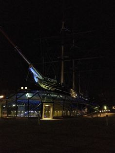 Cutty Sark by night - London Cn Tower, Museums, London, Night, World, Building, Sweet, Travel, Candy