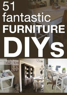 Amazing furniture projects you can do yourself!