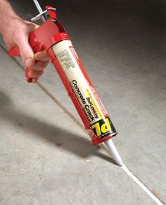 Um, my life may be changed forever >> Concrete gap filler. Never weed again!! I did this on my patio and driveway. Love it! This is what parks and public places use. Available at Lowes and Home Depot in different colors in the concrete dept.