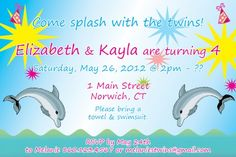 This Listing Is For Customized PRINTABLE File Of A Summer Theme Dolphin Party Invitation Steps To Purchasing Purchase The Your