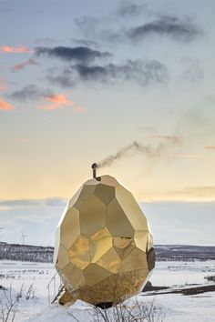 Solar Egg is a public sauna and art installation by artistic duo Bigert & Bergström which just opened in Kiruna, Sweden.