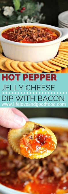 Hot Pepper Jelly Cheese Dip with Bacon | Recipe