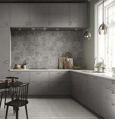 9 nye tendenser: Sådan skal dit køkken se ud i 2018 - Best Pins Modern Kitchen Design, Interior Design Kitchen, New Kitchen, Kitchen Decor, Scandinavian Kitchen, Apartment Design, Kitchen Furniture, Layout Design, Home Kitchens