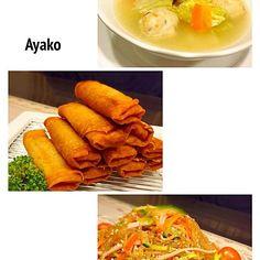 今日は、中華料理です♡ 揚げたて春巻きは、美味しいね - 104件のもぐもぐ - エビ春巻き、鶏団子入り中華スープ、春雨サラダ by ayako1015
