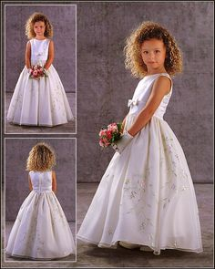 Buy 2013 Enticing A-line Siren Hot Sale Applique Floor Length First Communion Dress Online Cheap Prices