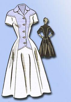 1950s Vintage Anne Adams Sewing Pattern 4616 Uncut Misses Dress Size 18 36B