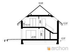Projekt domu Dom pod hikorą 3 - ARCHON+ Line Chart, Floor Plans, Houses, House Construction Plan, Architecture, Floor Plan Drawing, House Floor Plans