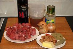 Grootmoeders draadjesvlees - Keuken♥Liefde Multicooker, Goulash, Dutch Oven, Spaghetti, Food And Drink, Meat, Hush Hush, Iron Pan, Dutch Ovens