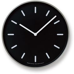 Mono Wall Clock in Black w/ Lines design by Lemnos ($150) ❤ liked on Polyvore featuring home, home decor, clocks, wooden home decor, wooden wall clock, wood clock, black wall clock and ships clock