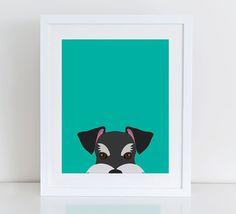 Schnauzer Art Print, Instant Download, Printable Home Decor, Digital Art Print, Schnauzer Print, Schnauzer Decor, Dog Wall Art