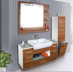 Modern Ahşap Banyo Dolap Modelleri, 2015