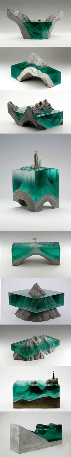 The glass and concrete sculptures of Ben Young.